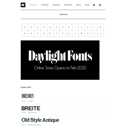 Typefaces | DAYLIGHT FONTS