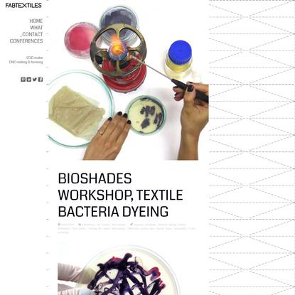 BioShades Workshop, Textile Bacteria Dyeing