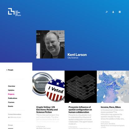 Person Projects ‹ Kent Larson - MIT Media Lab