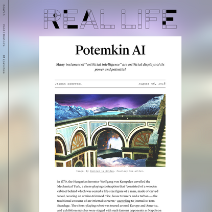 Potemkin AI - Real Life