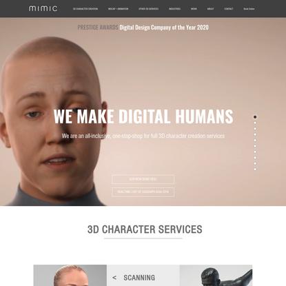Mimic   Digital Doubles, Motion Capture and 3d services