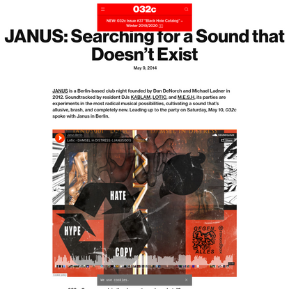 JANUS: Searching for a Sound that Doesn't Exist - 032c