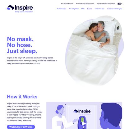 Inspire Sleep Apnea Innovation - Obstructive Sleep Apnea Treatment