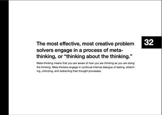 Meta-thinking according to Matthew Frederick