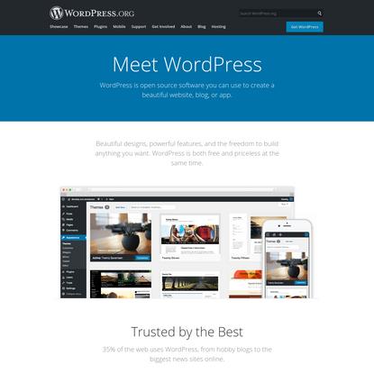 Blog Tool, Publishing Platform, and CMS - WordPress