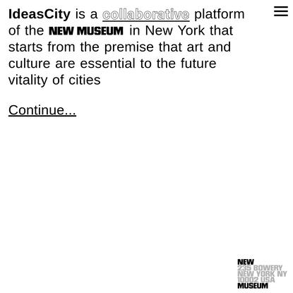 Home | IdeasCity