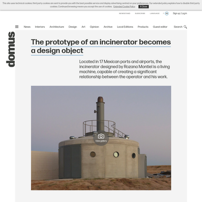 The prototype of an incinerator becomes a design object