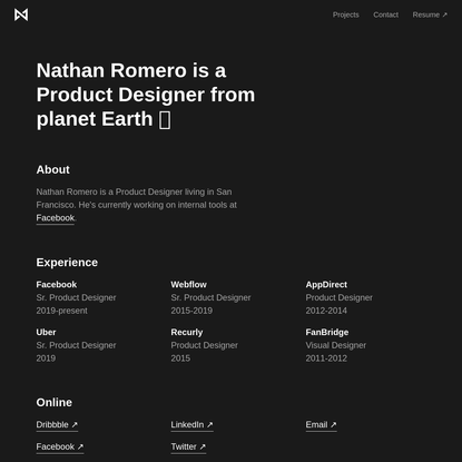 Nathan Romero - Product Designer