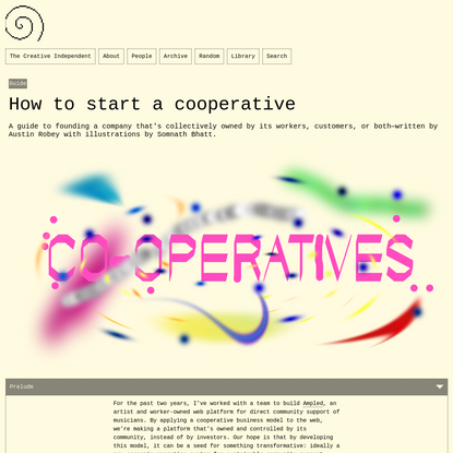 How to start a cooperative