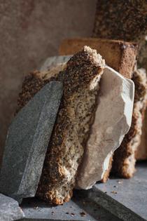 Seeded breads between rocks