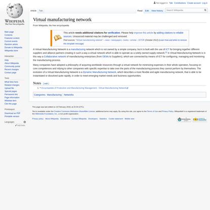 Virtual manufacturing network - Wikipedia