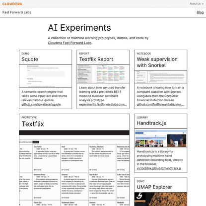 AI Experiments - Cloudera Fast Forward Labs