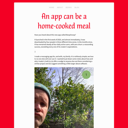 An app can be a home-cooked meal