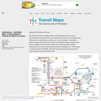 Transit Maps: Submission - Unofficial Map: A Transit Map for Parents by Hilário de Sousa