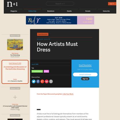 How Artists Must Dress