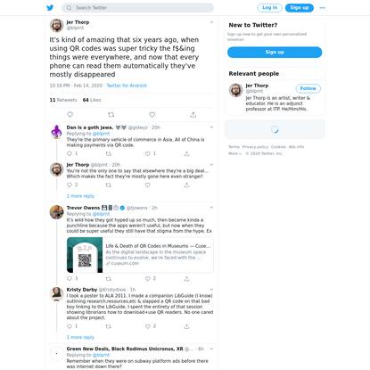 Twitter thread on QR codes
