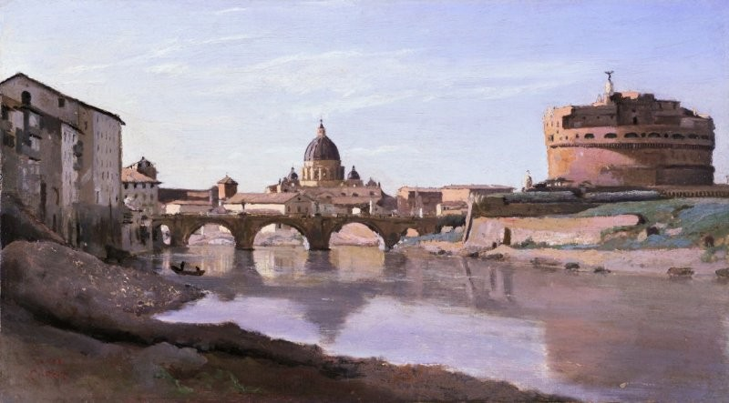 View of Rome, The Bridge and Castel of Sant'Angelo with the Cupola of Saint Peter's
