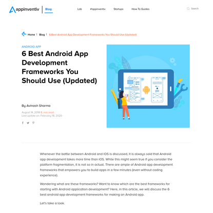 6 Android App Development Framework to Work With