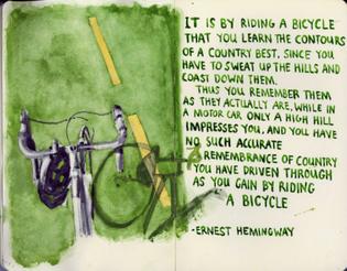 Hemingway on biking