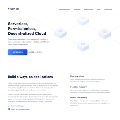 Fluence Network - an open-source, decentralized cloud computing platform