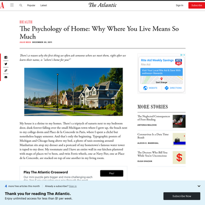 The Psychology of Home: Why Where You Live Means So Much