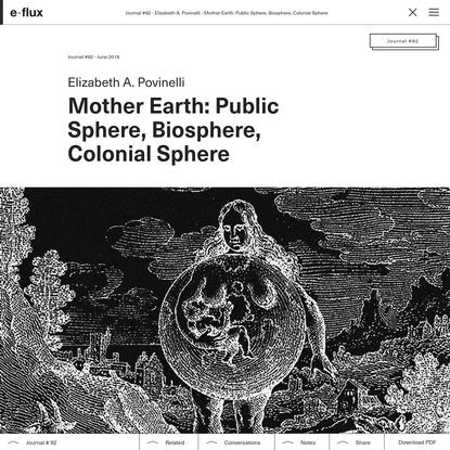 Mother Earth: Public Sphere, Biosphere, Colonial Sphere
