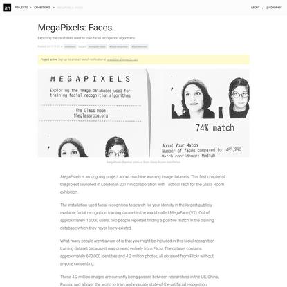 MegaPixels: Faces