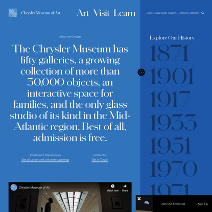 About   Free Admission Art Museum   Chrysler Museum of Art
