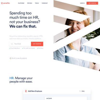 #1 HR Software   Human Capital Management (HCM)   Zenefits