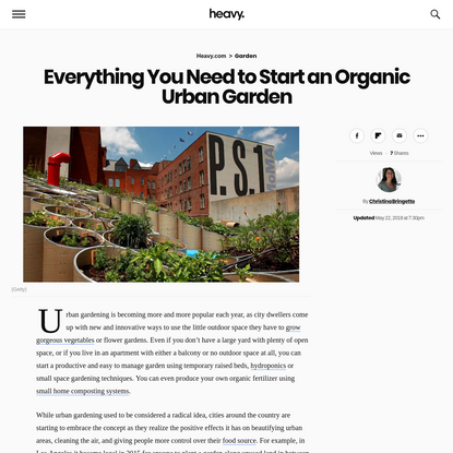 Everything You Need to Start an Organic Urban Garden