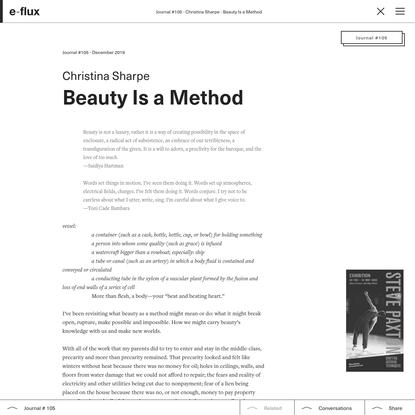 Beauty Is a Method