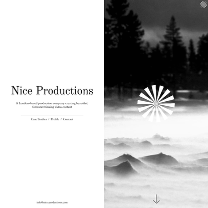 Nice Productions - A London-based production company creating beautiful, forward-thinking video content