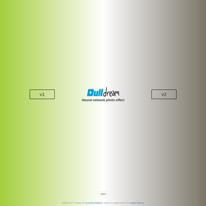 DullDream: Neural network photo effect