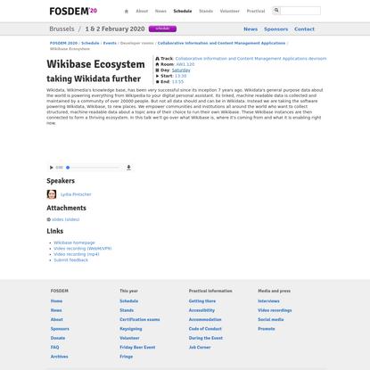 FOSDEM 2020 - Wikibase Ecosystem
