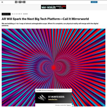 AR Will Spark the Next Big Tech Platform—Call It Mirrorworld