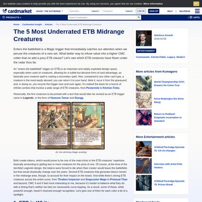 The 5 Most Underrated ETB Midrange Creatures   Cardmarket Insight