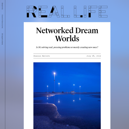 Networked Dream Worlds - Real Life