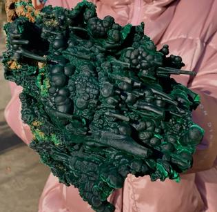 Botryoidal malachite