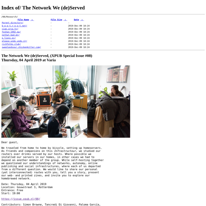 The Network We (de)Served - Special Issue #08