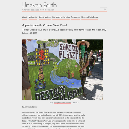 A post-growth Green New Deal