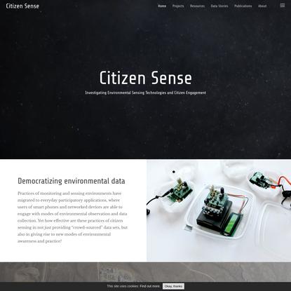 Home   Citizen Sense