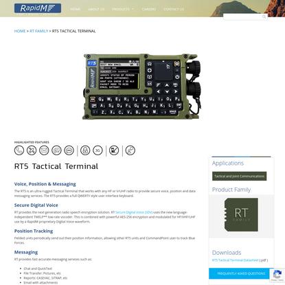 RT5 Tactical Terminal | RapidM