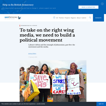 To take on the right wing media, we need to build a political movement