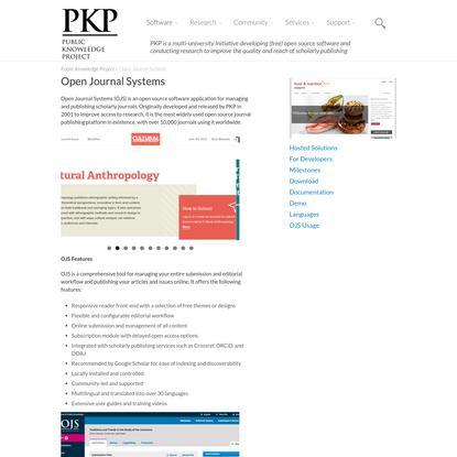Open Journal Systems | Public Knowledge Project