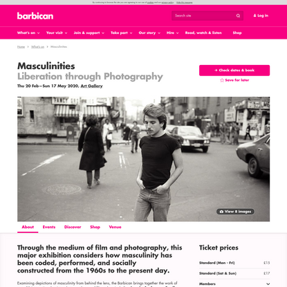 Masculinities | Barbican