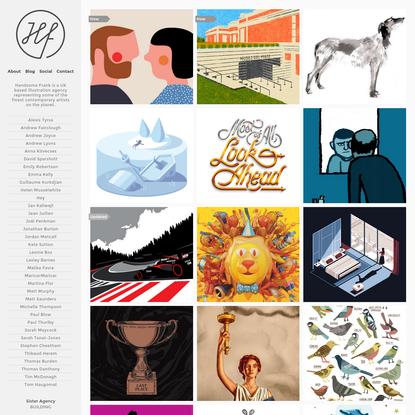 Homepage - Handsome Frank Illustration Agency