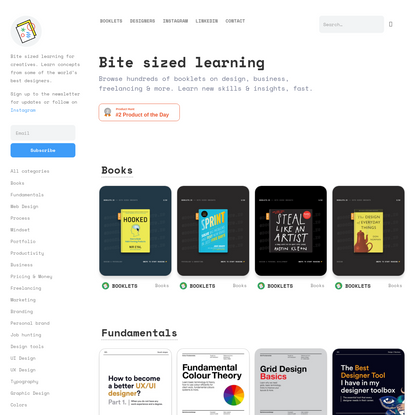 Booklets.io - Bite Sized Learning