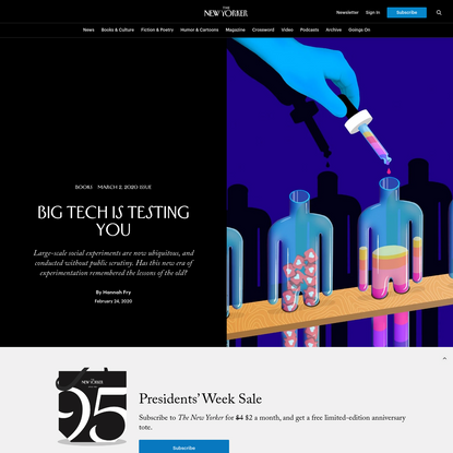 Big Tech Is Testing You | The New Yorker