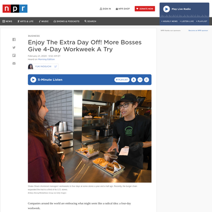 Enjoy The Extra Day Off! More Bosses Give 4-Day Workweek A Try