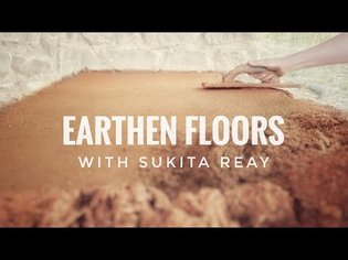 Earth Floor Sealed with Oil - a Natural Alternative